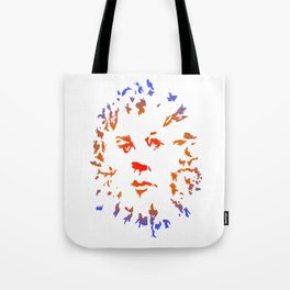 Red Flower Face Tote Bag