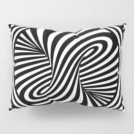 Black & White Twist & Check Design Pillow Sham