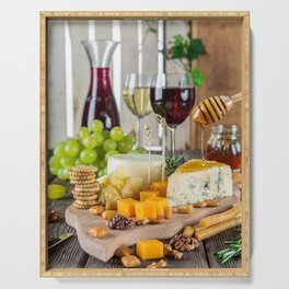 Wine and Cheese Serving Tray