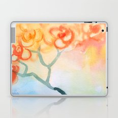 Cherry flowers in the blue jug Laptop & iPad Skin