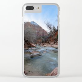Virgin_River in Winter - Zion_National_Park Clear iPhone Case