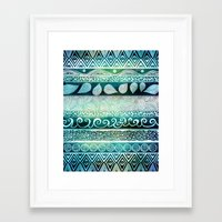 karu kara Framed Art Prints featuring Dreamy Tribal Part VIII by Pom Graphic Design