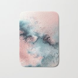 Pink and Blue Oasis Bath Mat
