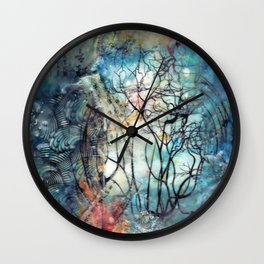 two worlds Wall Clock