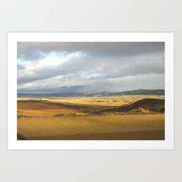 View from Train: Gold Art Print