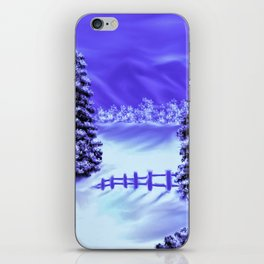 Moon Over The Mountain iPhone Skin