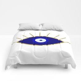 I See You Evil Eye Comforters