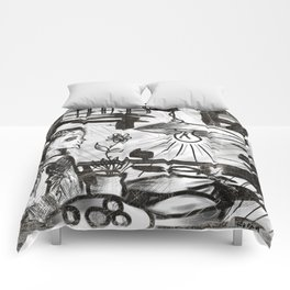 son and lamp Comforters