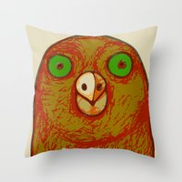 pigeon Throw Pillows featuring Pigeon by RifKhas