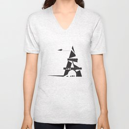 ABSTRACT_05_EIFFEL TOWER Unisex V-Neck