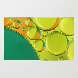 Bubble Abstract with a Twist of Lime Rug