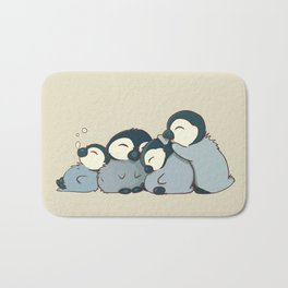 Pile of penguins Bath Mat