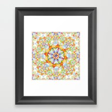 Beaux Arts Flower Crown Framed Art Print