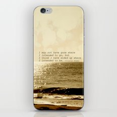 Where are you going iPhone Skin