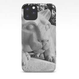 Nittany Lion Statue Black White Side iPhone Case