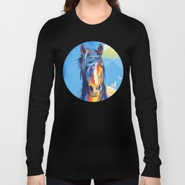Horse Beauty - colorful animal portrait Long Sleeve T-shirt