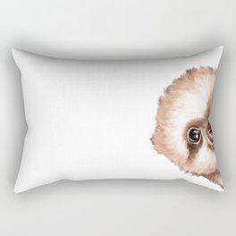 Sneaky Baby Sloth Rectangular Pillow