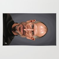 celebrity Area & Throw Rugs featuring Celebrity Sunday ~ Steve Jobs by rob art | illustration
