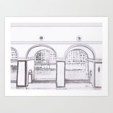 Florence River Drawing Art Print