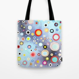 Nebulous Blue abstract circles Tote Bag