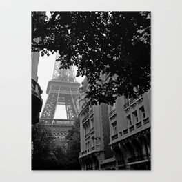 Eiffel Tower in Hiding Canvas Print
