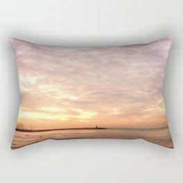 Sunset on the Harbor Rectangular Pillow