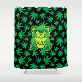 420 Teddy Bear Shower Curtain