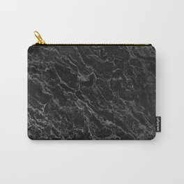 BLACK MARBLE - TEXTURE - MATERIAL - SURFACE Carry-All Pouch