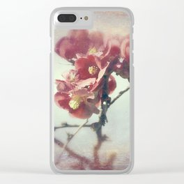 I dreamed a flower garden Clear iPhone Case