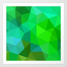 Emerald Low Poly Art Print