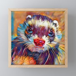 Ferret Framed Mini Art Print