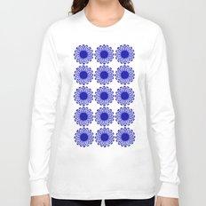 vintage flowers blue  Long Sleeve T-shirt