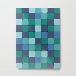 Blue Blocks Metal Print