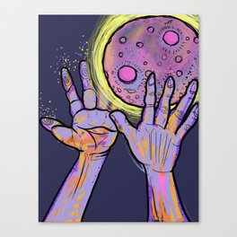 *Super Pink Full Moon* Canvas Print