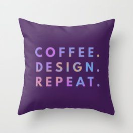 Coffee Design Repeat Throw Pillow