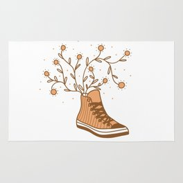 Converse All Star and Flowers Rug