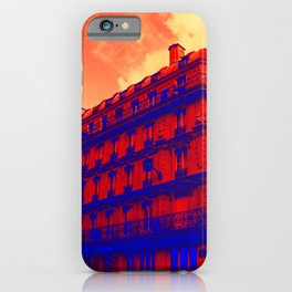 Paris in red and Blue by Lika Ramati iPhone Case