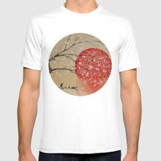 Japan White MEDIUM Mens Fitted Tee