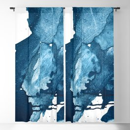 4 am Thoughts [4]: a minimal abstract painting in blue by Alyssa Hamilton Art Blackout Curtain
