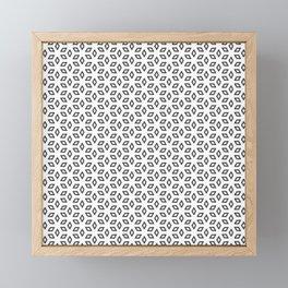 Geometric Petals Light Framed Mini Art Print