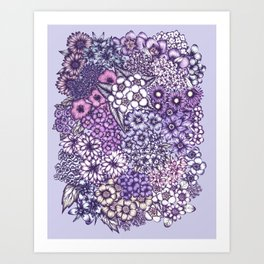 Faded Blossoms Art Print