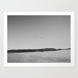 HALF MOON BAY IV (B+W) Art Print