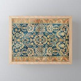 Sarouk  Antique West Persian Rug Print Framed Mini Art Print