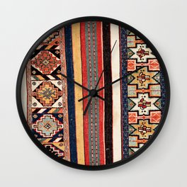 Salé  Antique Morocco North African Flatweave Rug Print Wall Clock