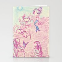 mermaids Stationery Cards featuring Mermaids by malipi