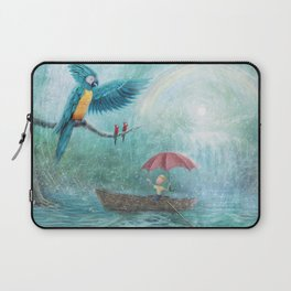 Parrot Waterfall by P.S. Brooks Laptop Sleeve