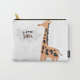 Love Giraffe Carry-All Pouch