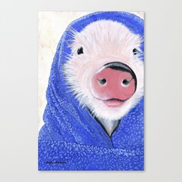 Piglet in a Blanket Canvas Print