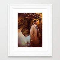 castiel Framed Art Prints featuring Castiel by quercusrubra