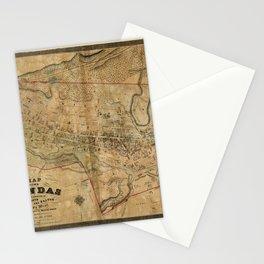 Map Of Dundas 1851 Stationery Cards